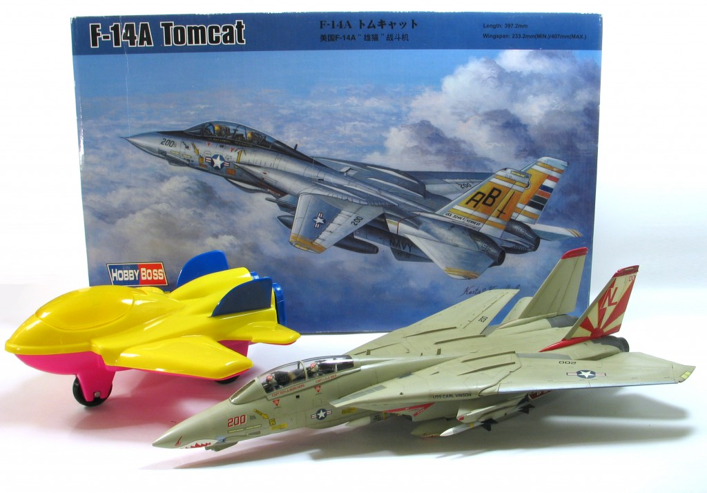 Toy and scale model versions of the F-14!